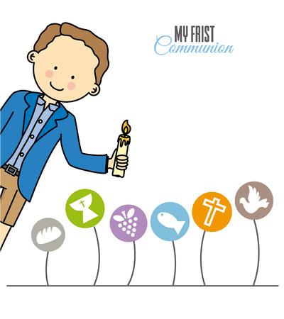 My first communion boy Illustration