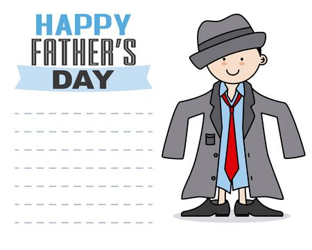 disguised: Happy fathers day. Child disguised as father