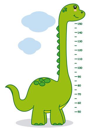 millimeters: Meter wall dinosaur.