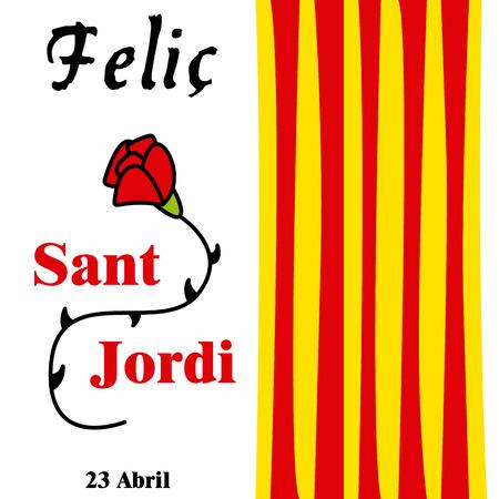 Sant Jordi Stock Vector Illustration And Royalty Free Sant Jordi Clipart