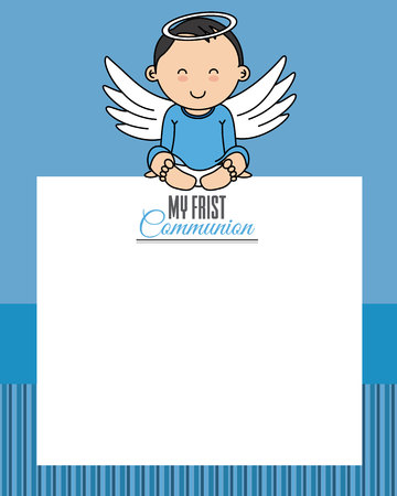my first communion. Space for text