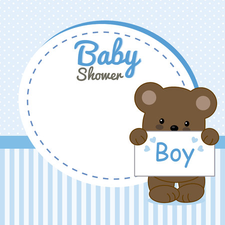 Baby shower invitation. it's a boy