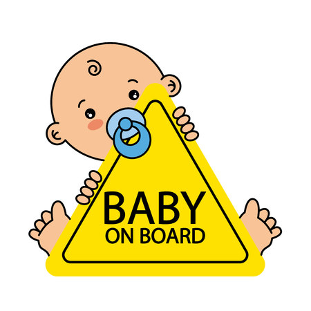 Baby on Board Sign Stok Fotoğraf - 80975717