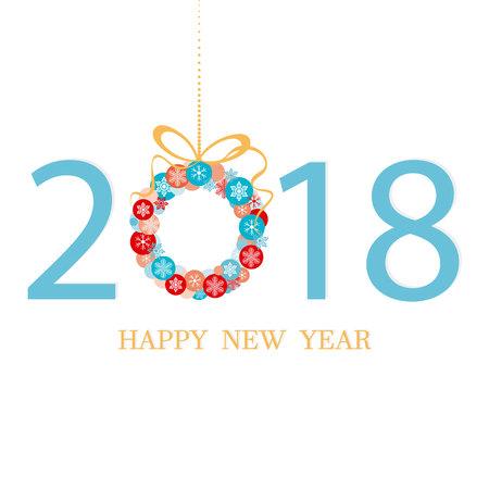 2018. Happy New Year  イラスト・ベクター素材
