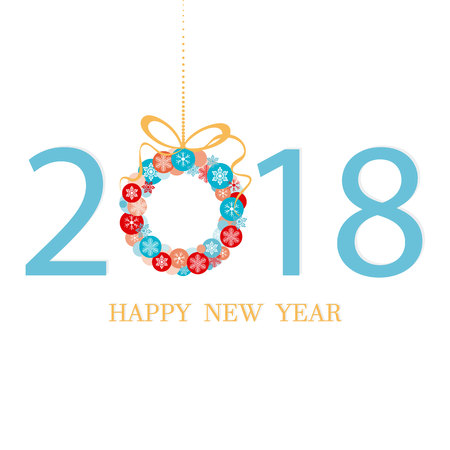 2018. Happy New Year Stock Illustratie