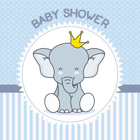 baby douche jongen. Leuke olifant met kroon