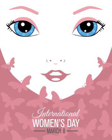 Conception d'affiche pour la journée internationale de la femme.