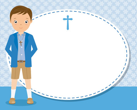 my first communion boy. space for text