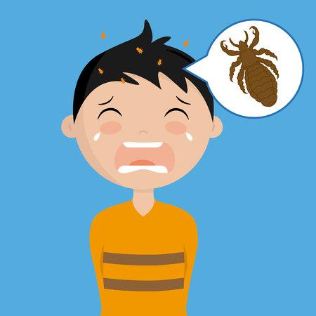 boy with head lice