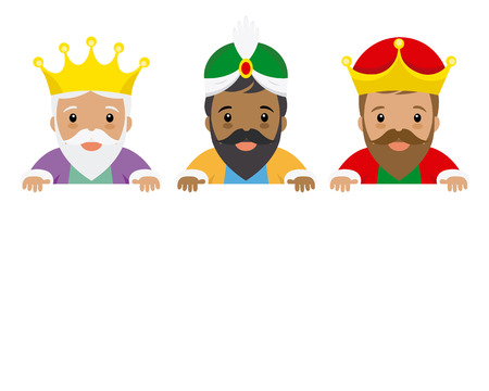The three kings of orient. Space for text Stock Illustratie