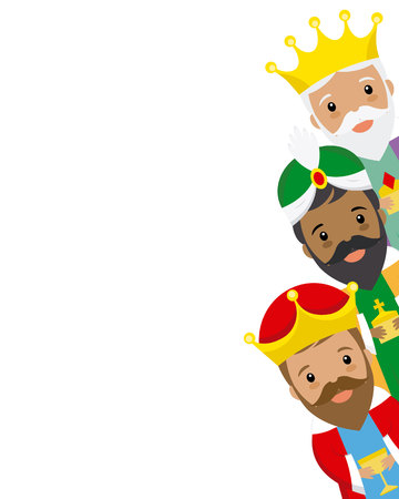 The three kings of orient. Space for text 일러스트