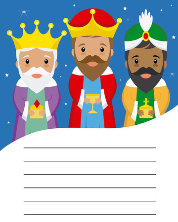 Letter to the three kings of orient. Space for text