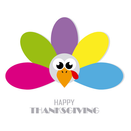 Thanksgiving day card. abstract and colorful turkey 向量圖像