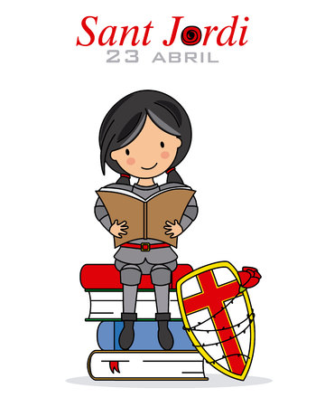 Catalonia traditional celebration. Sant Jordi