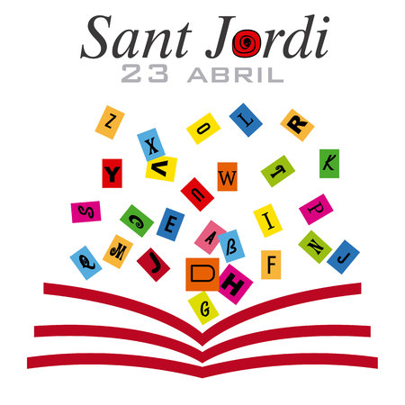 Sant Jordi. Catalonia traditional celebration.
