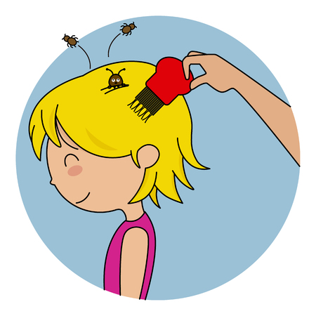 girl with head lice