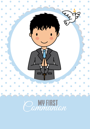 Card my first communion boy