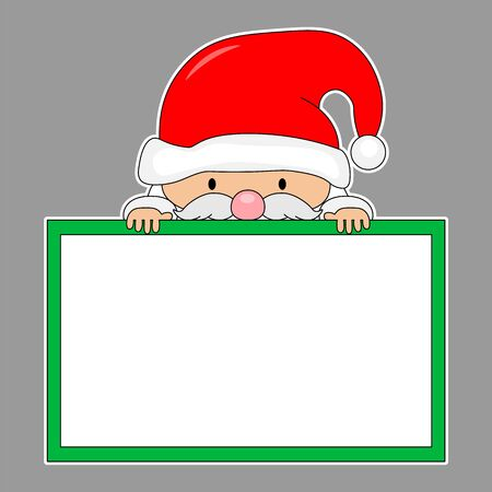 Santa Claus with blank frame.isolated vector Stock Illustratie