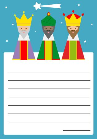 Letter to the three wise men. Space for text