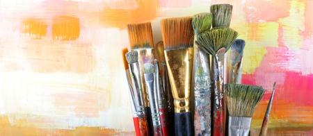 Set brushes Banque d'images