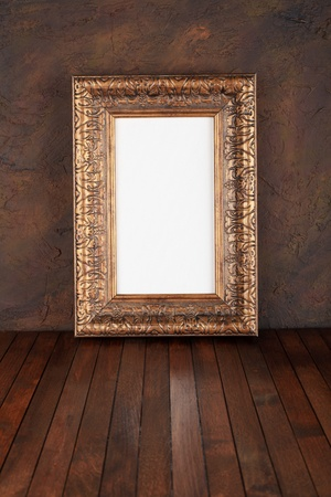 old  frames over the grunge wall background