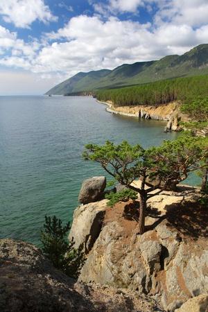 Lake Baikal. Summer Day Stock Photo