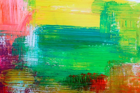 Abstract background drawn by oil paints  photo