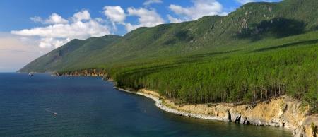 ashore: Rocks ashore great lake Baikal Stock Photo