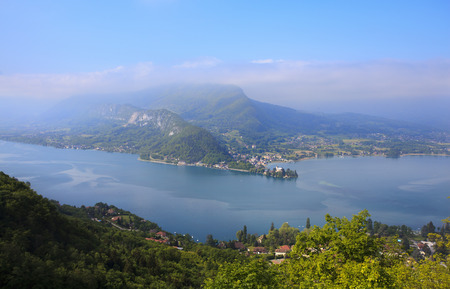 Lake Annecy with the village of Talloires