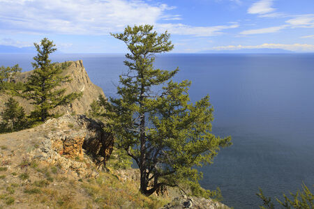 View of lake Baikal as seen from Olkhon island - Siberia, Russia.