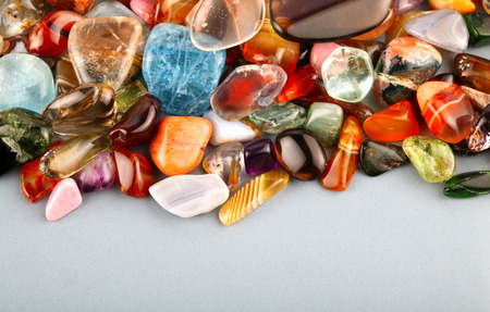 collection of beautiful precious stones