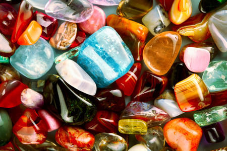 precious stone: collection of beautiful precious stones