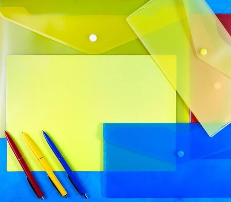 sealable: plastic envelopes with colored  pens
