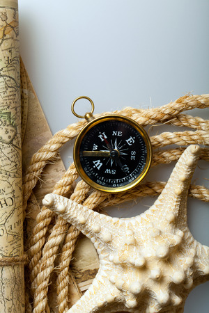 lashing: Compass with ropes and starfish