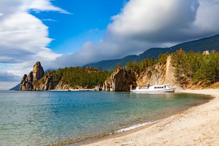 View of coast of Baikal lake