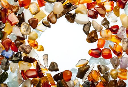 semiprecious: Semiprecious stones on white background