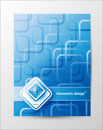 Brochure Design Templates. Geometric Abstract Modern Backgrounds.