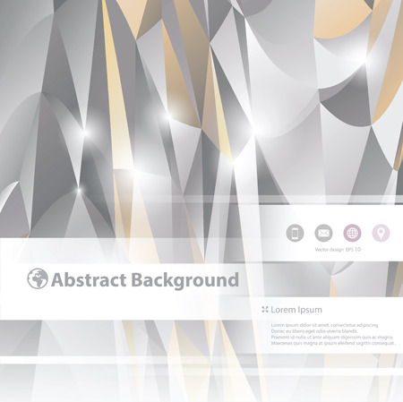 Abstract 3D triangles vector geometric background.Business poster.