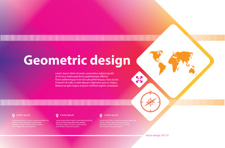 Abstract geometric background for design. Vector Illustration business poster.