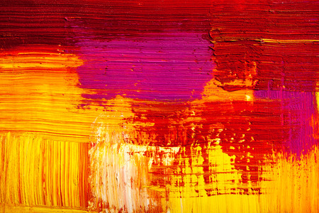 Abstract painting color texture. Bright artistic background in red and yellow Stock Photo