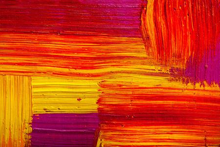 pintura abstracta: Textura abstracta del color de la pintura. fondo artístico brillante en rojo y amarillo