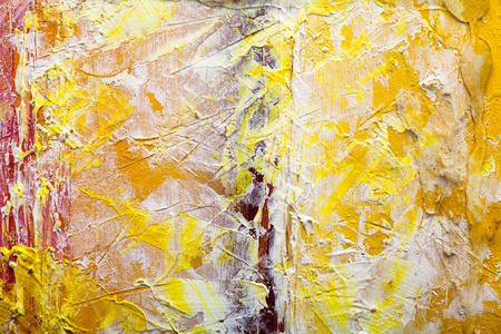 lacerated: Abstract painting color texture. Bright artistic background in red and yellow Stock Photo