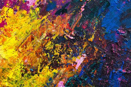추상 회화 색상 질감. 빨간색과 노란색의 밝은 예술적 배경