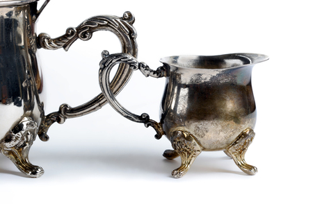 Old silver. Stock Photo