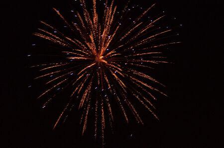 erupt: Firework in a night sky Stock Photo