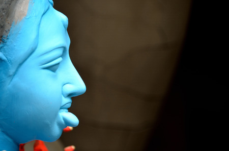 kali: Close-up of a hindu idol. Stock Photo