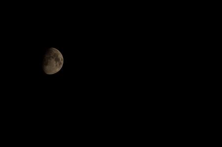 half moon: Half moon in night sky