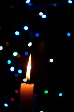 murk: Composition With Burning Candle