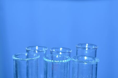 forensic science: Test tubes closeup