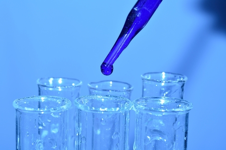 forensic science: Test tube in a chemistry laboratory Stock Photo